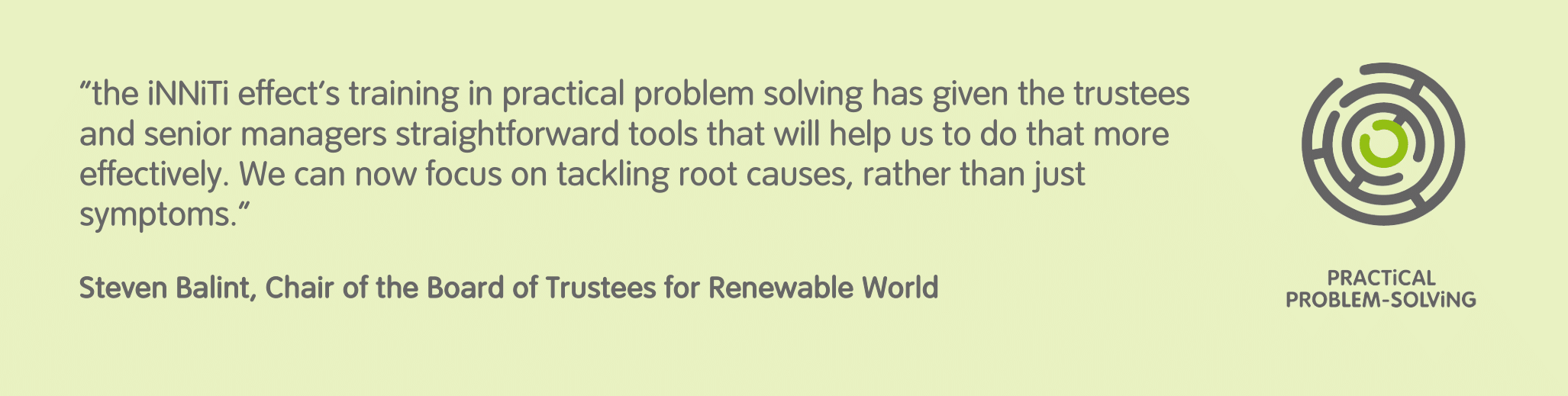 Renewable World testimonial