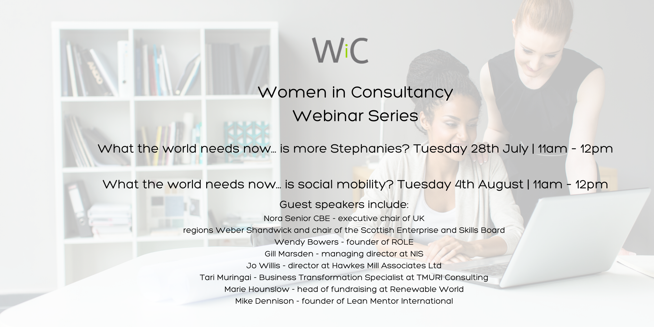 Women in Consultancy are hosting a series of webinars about equality and diversity in the workplace.
